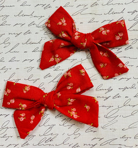 Little Ruby pigtail bows
