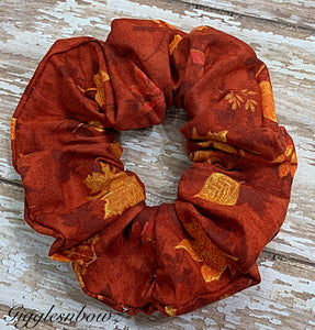 Terracotta ~ Cotton Hair Scrunchy