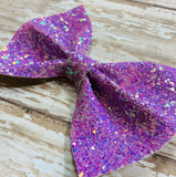 Purple ~ Glitter hair bow