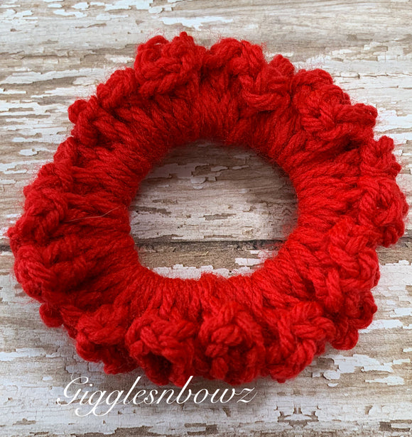 Crochet Scrunchy~ Really Red