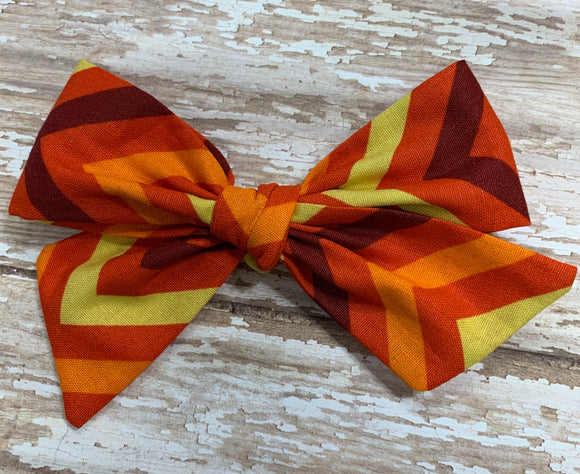 Autumn Chevron // Pinwheel bow