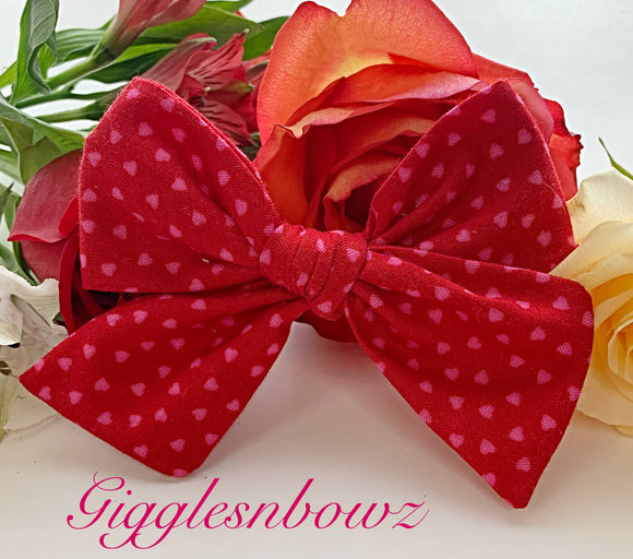 Sweet Hearts~ Pinwheel Bow