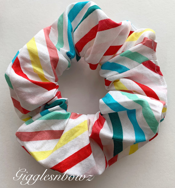 Stripes ~ Cotton Hair Scrunchy