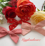 Valentine Bow Bundle~ Schoolgirl Bows (3pc set)