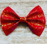 Red~ Glitter hair bow