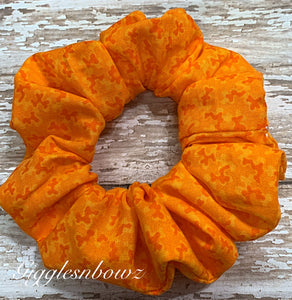Orange Crush~ Cotton Hair Scrunchy