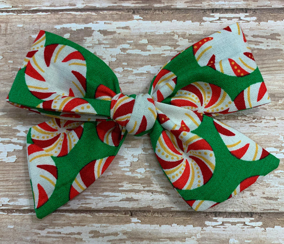 Peppermints ~ Pinwheel Bow