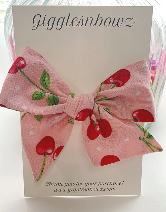 Cherries ~ Pinwheel Bow