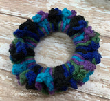 Crochet Scrunchy ~ Peacock Multi