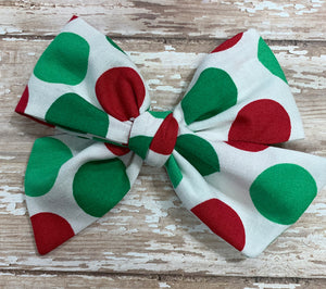 Big Christmas Dots ~ Pinwheel Bow