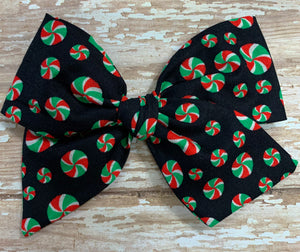 Christmas Candy~ Pinwheel Bow