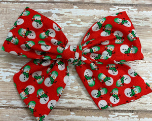 Cute Little Snowmen ~ Pinwheel Bow
