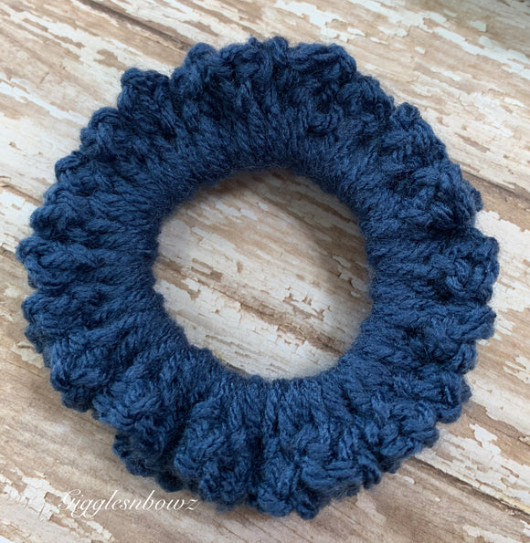Crochet Scrunchy~ Midnight blue