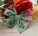 Cottage Roses ~ Pinwheel Bow