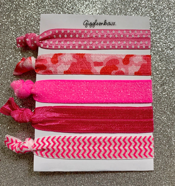 Pretty Pink hair ties