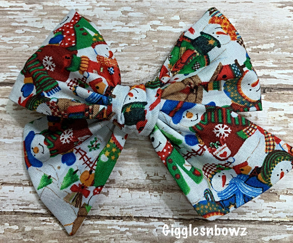Snowman Party~ Pinwheel Bow