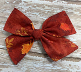 Leaves // Pinwheel bow