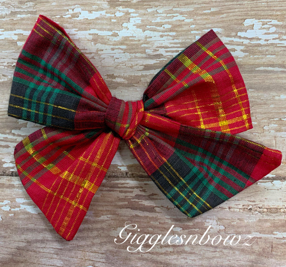 Christmas Morning ~ Pinwheel Bow