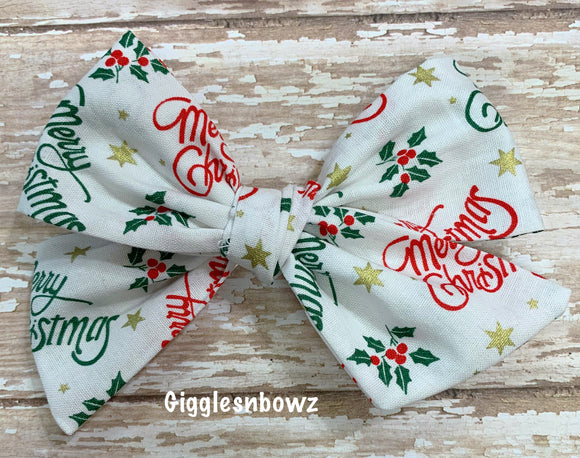 Merry Christmas ~ Pinwheel Bow