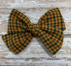Homespun Fall Plaid // Pinwheel bow