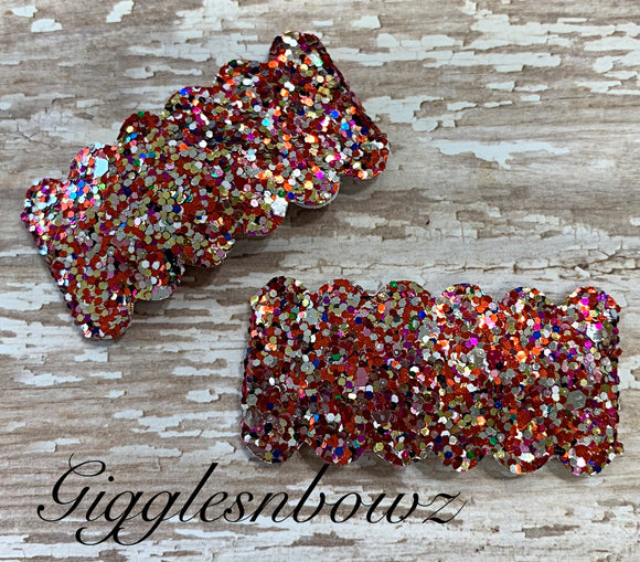 Glitter snap clips// set of 2