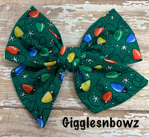 Christmas Lights~ Pinwheel Bow