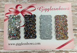 Glitter snap clips// set of 4