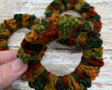 Crochet Scrunchy~ Fall Multi color