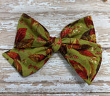 Autumn Leaves ~Olive Green// Pinwheel bow