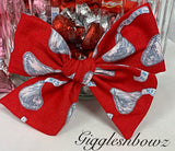 Chocolate Kisses~ Pinwheel Bow