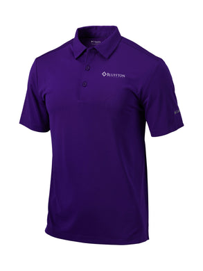 Columbia Men's Omni-Wick Drive Polo, Purple