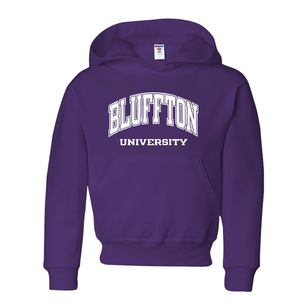 Youth Hooded Sweatshirt, Deep Purple