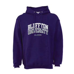Alumni Russell Unisex Fleece Hood, Purple