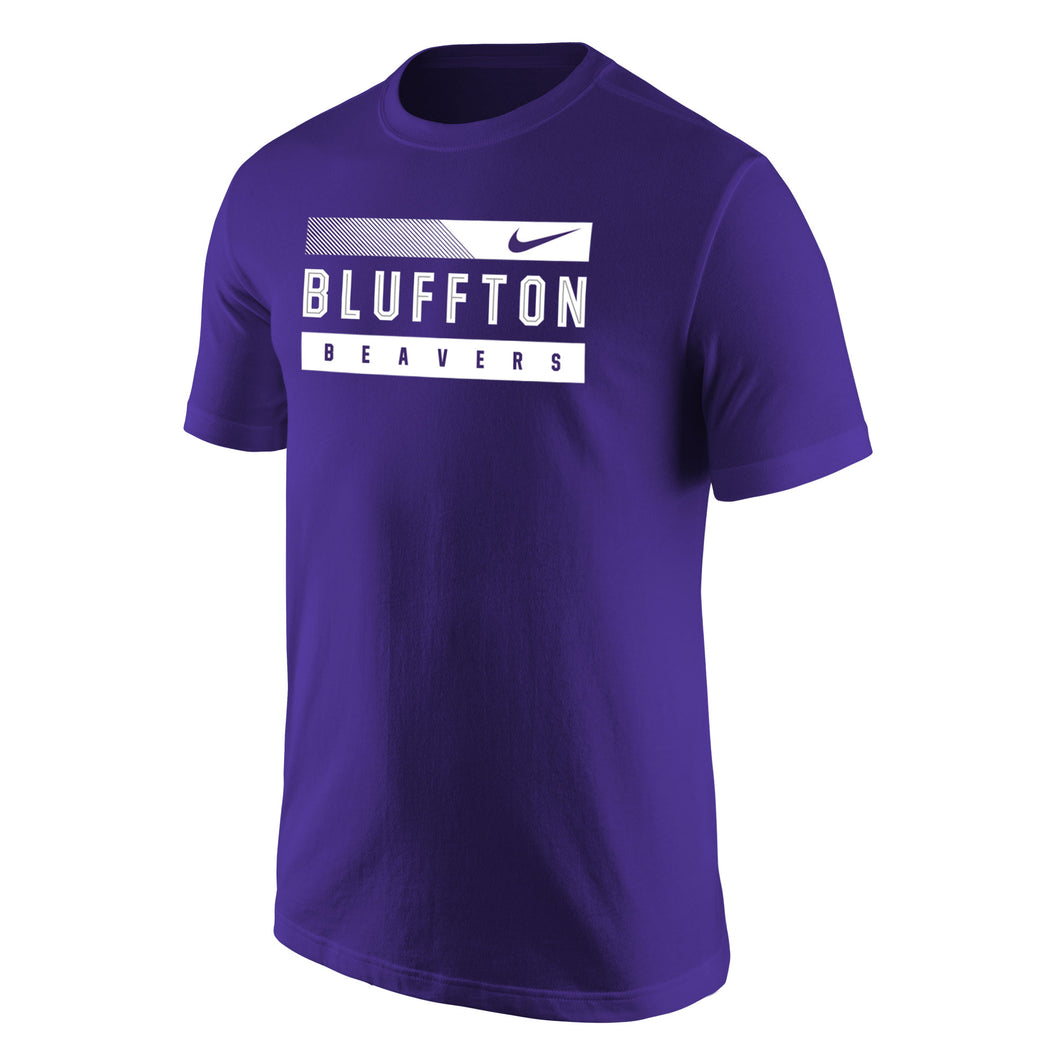 Nike Men's Core Cotton Short Sleeve Tee, Purple