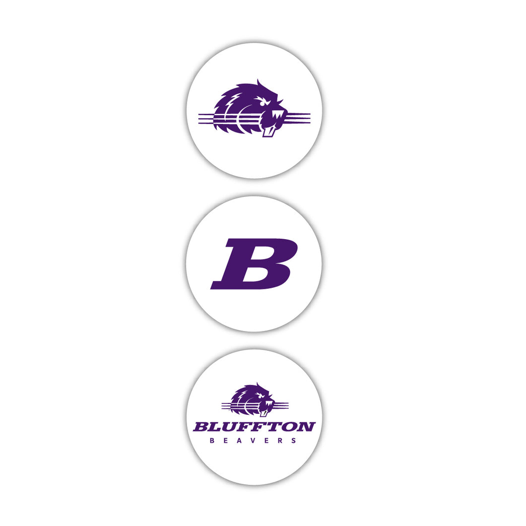 Bluffton 3-pack Round Decals - J Circles