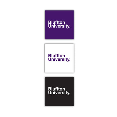 Bluffton 3-pack Square Text Decals - J Square
