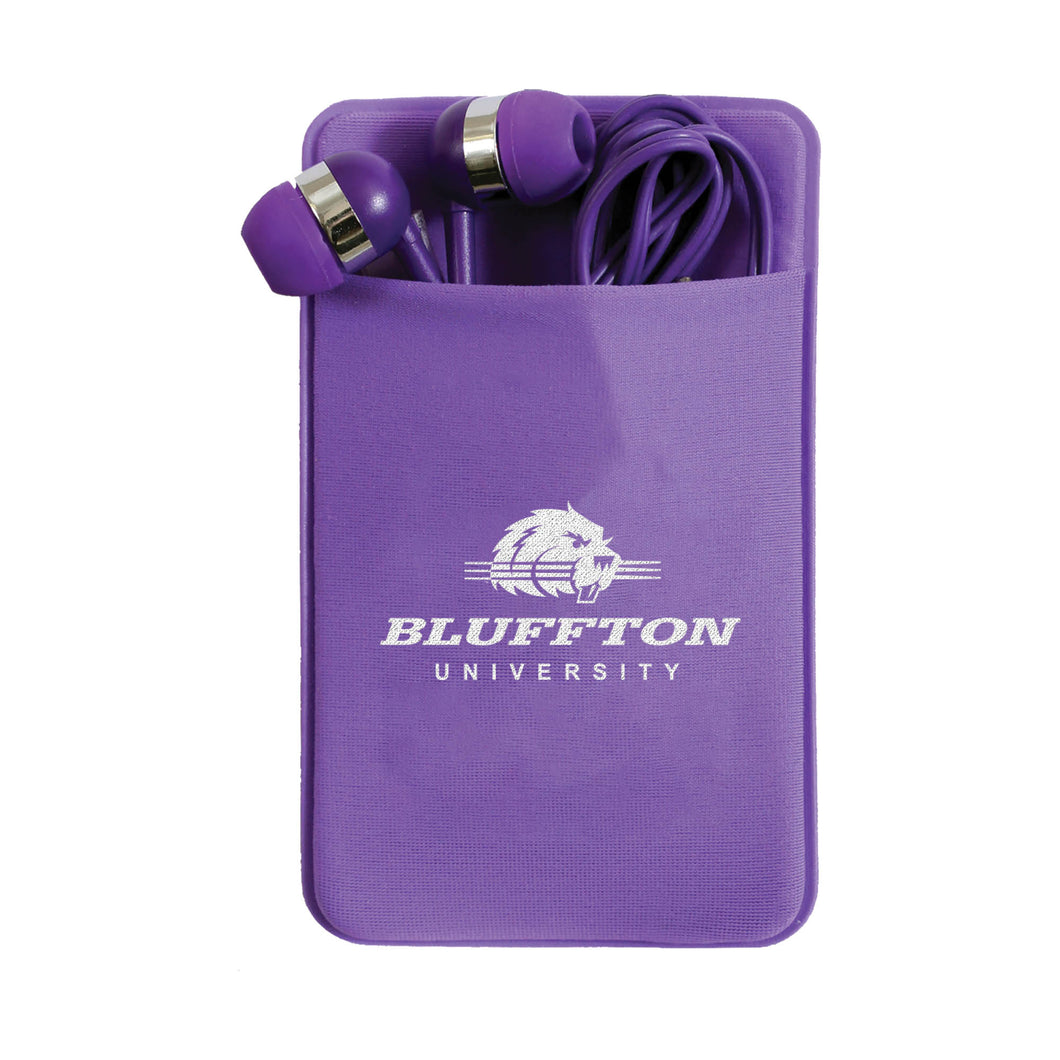 Spirit, Mobile Stretch Phone Case with Earbuds, Purple
