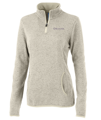 Charles River Heathered Fleece Pullover, Oatmeal