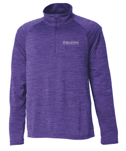 Charles River Space Dye Performance Pullover, Purple