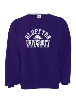 Russell 50/50 Fleece Crew, Purple