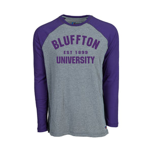 Russell Men's Long Sleeve Baseball Tee, Purple