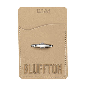 Spirit, Mobile Tuscany Card Holder & Phone Stand, Tan