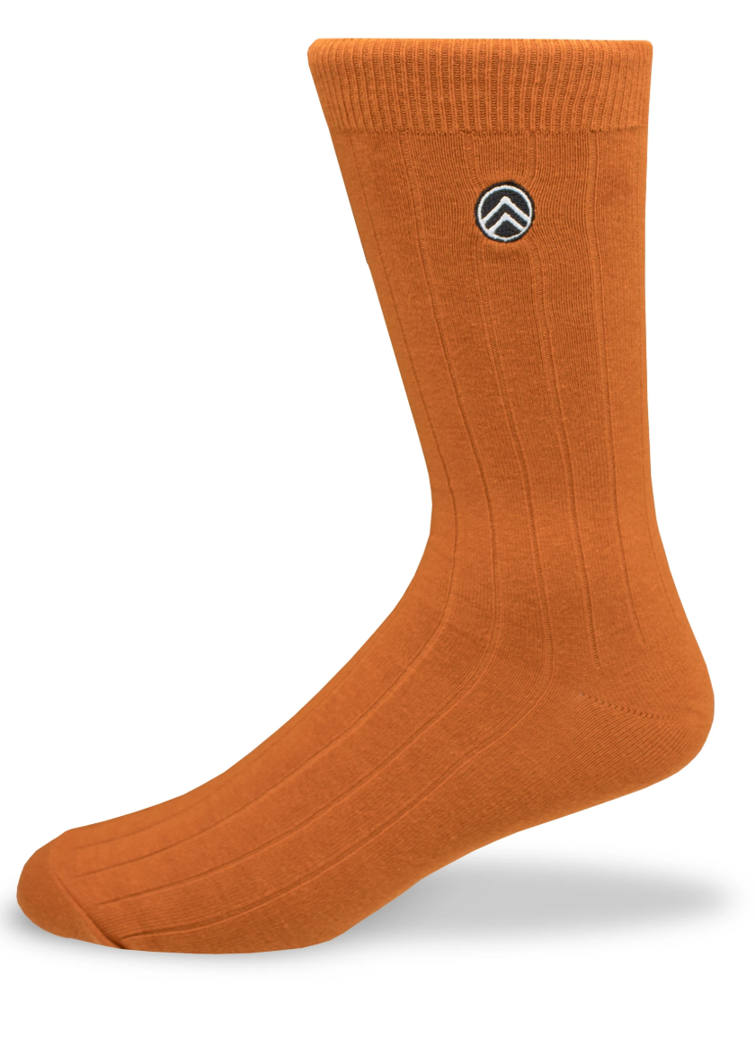 Sky Footwear Socks, Rust Solid