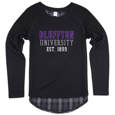 Boxercraft Women's Team Player Long Sleeve Tee, Plaid