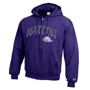 Champion Men's Eco Powerblend Full Zip, Purple