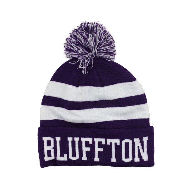 The Game Knit-In Roll Up Pom Hat