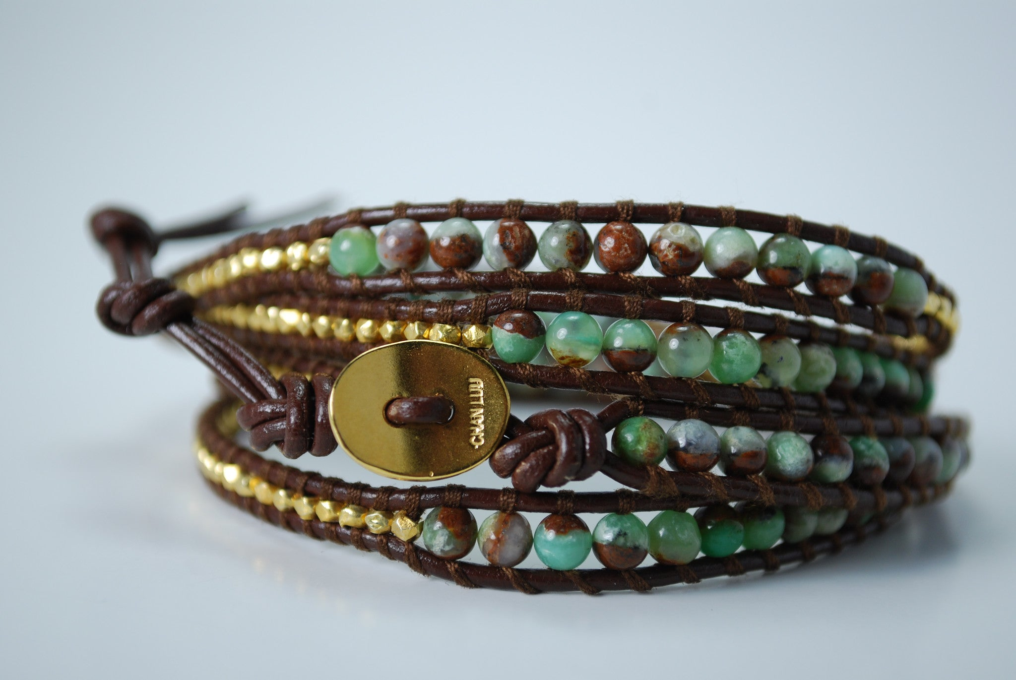 Chrysoprase & Gold Mix