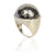 Black Silver Dome Ring
