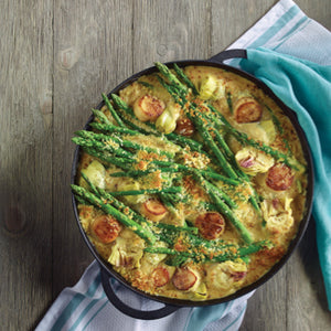 Asparagus And Artichoke Gratin