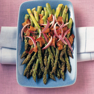 Asparagus With Sherry-Bacon Vinaigrette